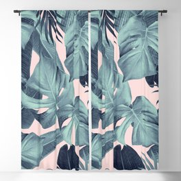 Tropical Summer Jungle Leaves Dream #3 #tropical #decor #art #society6 Blackout Curtain