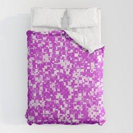 Dazzling Violet Pixels Comforters