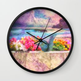 Looking Out To Sea - Painting - by Liane Wright Wall Clock