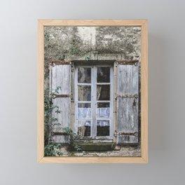 Old Window Framed Mini Art Print