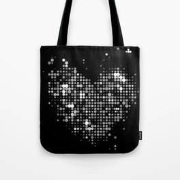 Heart2 Black Tote Bag