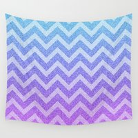 fairy tale Wall Tapestries featuring Chevron Fairy Tale by M Studio
