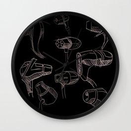 Earbud Pattern Wall Clock