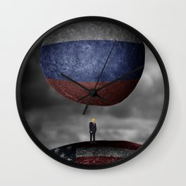 Trump. Between a rock and a hard place. Wall Clock