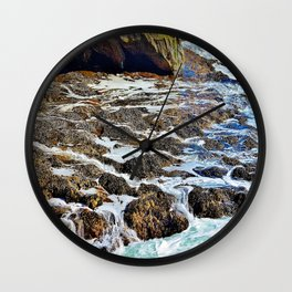 Water cave and mussels Wall Clock
