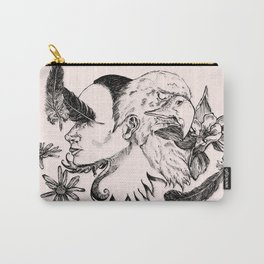 The Woman and Eagle Carry-All Pouch