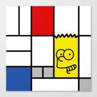 simpson Canvas Prints featuring Art Simpson by Domenic Bahmann