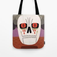 fear Tote Bags featuring Fear by Jack Teagle