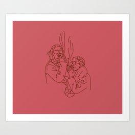 Red Smoking Olsens Art Print