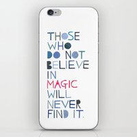 roald dahl iPhone & iPod Skins featuring Believe in magic... by Madi