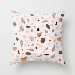 Terrazzo Stone Confetti blush Throw Pillow