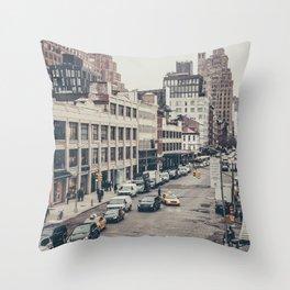 Tough Streets - NYC Throw Pillow