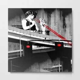 Stop the Freeway Overpass Scales Madness! Metal Print