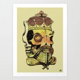 Caveira Rei dos Mares Art Print