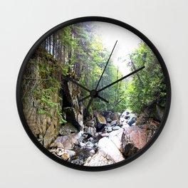Walking Through the Falls Wall Clock