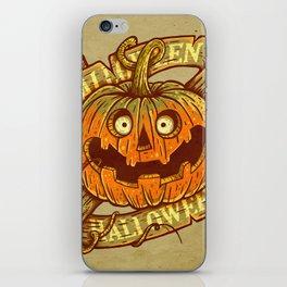 Halloween dark khaki iPhone Skin