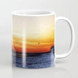 golden beach sunset Coffee Mug