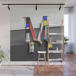 Surreal Letter M Wall Mural