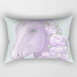 The Purple Horse Rectangular Pillow