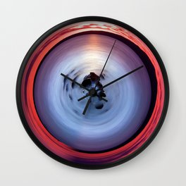 Color Sunset - Geometric Wall Clock