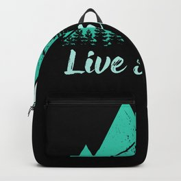 Live Simple Camping Shirt Accessory Road Trip Backpack