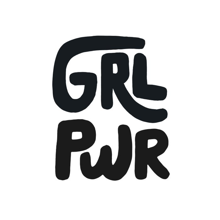 Grl Pwr black and white Comforters