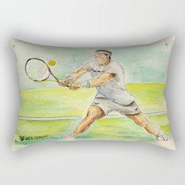 Rafael Nadal Pro Tennis Player Rectangular Pillow