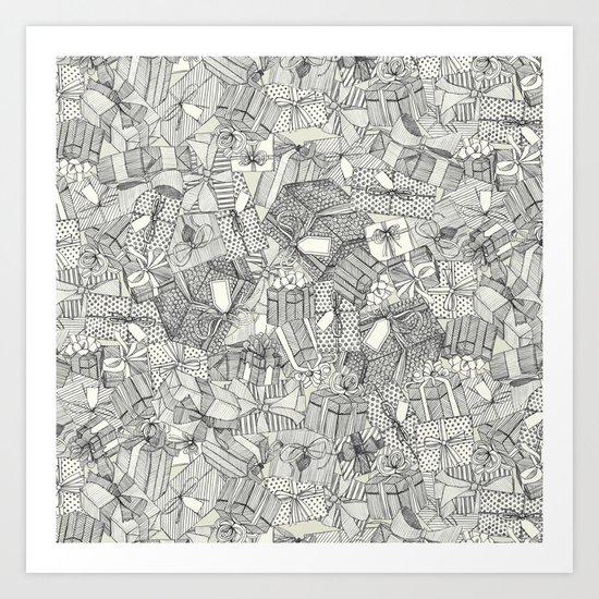 pencil parcels ivory Art Print