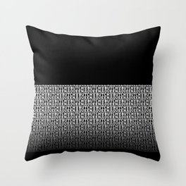 BQ - fade 2 -blk Throw Pillow