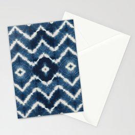 Shibori, tie dye, chevron print Stationery Cards