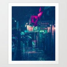 6th Street during Hurricane Harvey Art Print