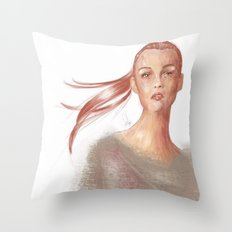 Light Scarlet Throw Pillow