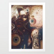 EYES QUEEN Art Print