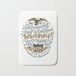 small government, larger freedom Bath Mat