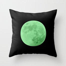 LIME MOON // BLACK SKY Throw Pillow