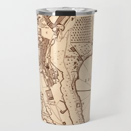 Map Of Monaco 1764 Travel Mug