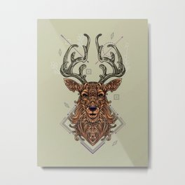 Oh Deer Art - Metal Print