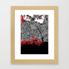 Sao Paulo noir Framed Art Print