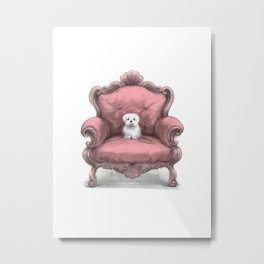 Know your place (in pink) Metal Print