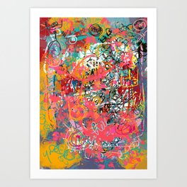 Urban Graffiti Abstract Sprayed Wall Art  Art Print