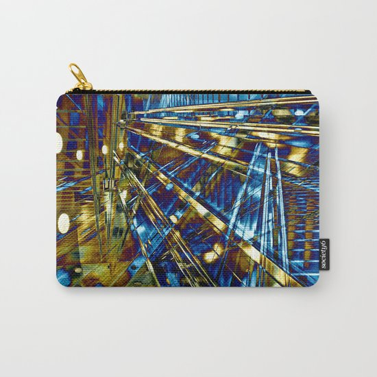 Blue Lines of Berlin Carry-All Pouch