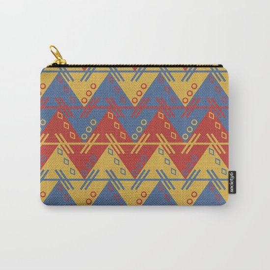 Tribal Zigzag Line Pattern Carry-All Pouch
