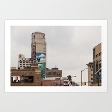 Detroit Music hall and Book Tower Art Print