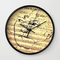 beethoven Wall Clocks featuring Beethoven Music by Richard Harper