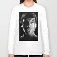 spock Long Sleeve T-shirts featuring Spock by Sarah Riebe