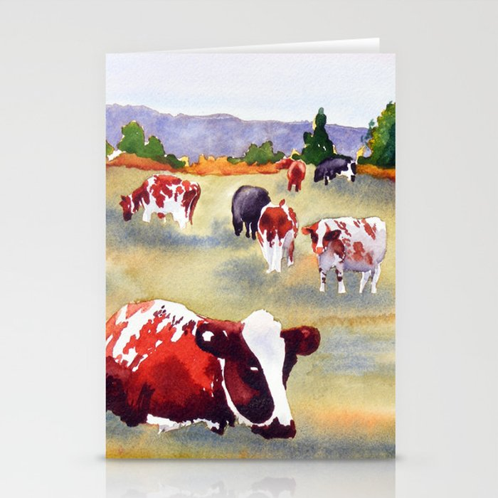 Cows in Pasture Stationery Cards
