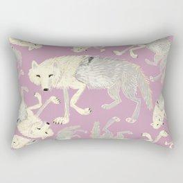Totem Artic Wolf lilac Rectangular Pillow
