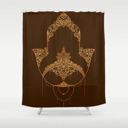 Autumn Hamsa Shower Curtain