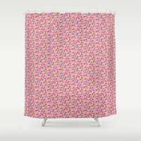 sprinkles Shower Curtains featuring Sprinkles by MartiniWithATwist