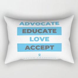 Autism Awareness Advocate Educate Love Rectangular Pillow